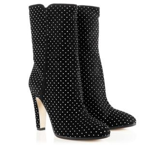 Jimmy Choo Tari Black Suede Studded Boots (37)